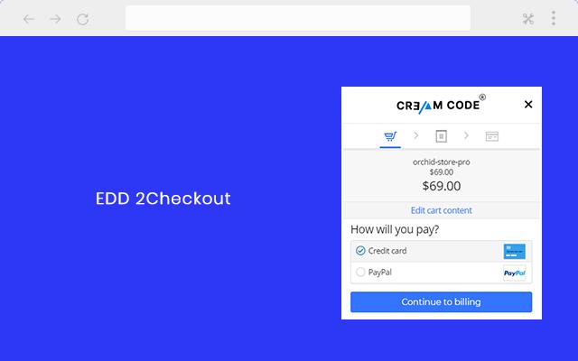 EDD 2Checkout inline payment gateway